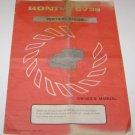 Honda Vertical Engine GV 35 Owners Manual