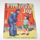 Fireman Joe Rand McNally Efl Childrens Book 1959