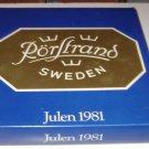 Rorstrands Julen 1981 Christmas Plate Sweden
