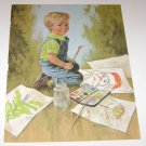 "John Mcclelland Art Print ""Little Boy Painting PIctures"""