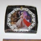 Barbie Porcelain Disc Hanging Ornament Holiday Dance 1965
