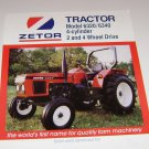Zetor Tractor Model 6320 - 6340 4Cylinder 2&4 Wheel Drive Spec Sheet