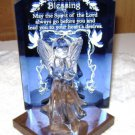 "Dacra Glass Company Glass Angel  ""A Christmas Blessing"" crystal Angel Figurine"