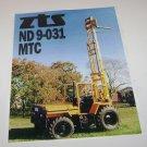 ZTS ND 9-031MTC Zetor Forklift Spec Sheet