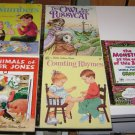 (5) Assorted Little Golden Book Childrens books