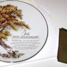 Avon 5th Anniversary Plate 1993