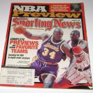 Sporting News Magazine NBA Preview 1999 Shaquille ONeal & Olaquwon cover