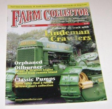 Farm Collector Magazine November 2003