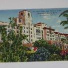 Vintage Postcard Floral Landscape Hollywood Beach Hotel Hollywood FLorida