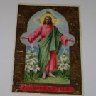 "Vintage Postcard Christian ""A Happy Easter""  image of Jesus gold trim"