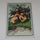 "Vintage Postcard ""A Joyful Easter "" Three Chicks On Grass"
