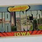"Vintage Postcard ""Greetings"" Burlington Iowa"