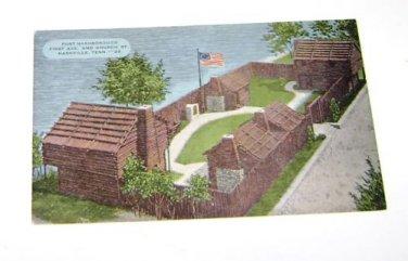Vintage Postcard Fort Nashborough Nashville Tennessee