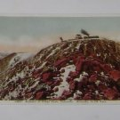 Vintage Postcard Train going over Summit of Pikes Peak Colorado