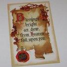 Vintage Postcard A Merry Xmas Parchment Paper Message