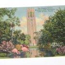 Vintage Postcard The Singing Tower Mountain Lake Sanctuary Lake Wales Florida
