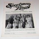 Sportsmen's Review Trapshooting Magazine november 15 1952