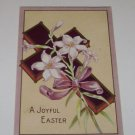 Vintage Postcard A Joyful Easter Cross with Lily Lilies Religious