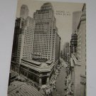 Vintage Postcard Broad & Wall St New York City 1930's