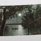 Vintage Postcard Canoe under Moonlit Night Moonlight