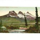 Vintage Postcard Three Sisters Canmore Canadian Rockies