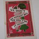 "Vintage Postcard Man Woman Kissing ""We Didn't Do Nothin Won't Do It Again"""
