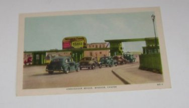 Vintage Postcard Ambassador Bridge Windsor Canada