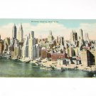 Vintage Postcard Midtown New York City Skyline 1930's