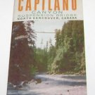Capilano Canyon Suspension Bridge Vancouver Canada Tourism Brochure 1960's