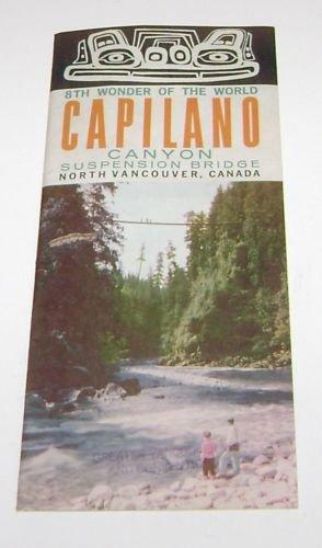 Capilano Canyon Suspension Bridge Vancouver Canada Tourism Brochure 1960's