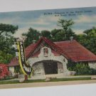 Vintage Postcard Entrance to Parrot Jungle Red Road Miami Florida