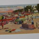 Vintage Postcard On the beach Hollywood by the sea Florida