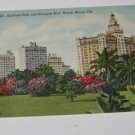 Vintage Postcard Bayfront Park Biscayne Blvd Hotels Miami Florida