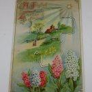 "Vintage Postcard A Joyful Easter""  Rural Church Scene"