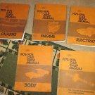ORIGINAL 1975-1976 FORD CAR SHOP MANUALS VOLUME 1-5