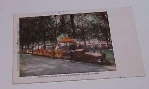 Vintage Postcard Miniature Train Elitch's Gardens Denver Colorado