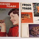 (2) Booklets on Horned Toads & Frogs & Toads as Pets  1950's