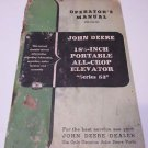 "John Deere Operator's Manual 18 1/2 Inch Portable All-Crop Elevator ""Series 53"""