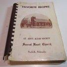 Vintage St Ann's Altar Society Sacred Heart Church Norfolk Nebraska Cookbook