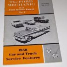 """Ford Mechanic Oct 1958 S1 L2 """"FSF"""" Ford Service Forum No 1 ~ Car ~ Truck ~"""