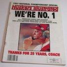 """NEBRASKA 1998 HUSKERS ILLUSTRATED,VOLUME 18,NO.2-""""WE'RE NUMBER 1"""""""