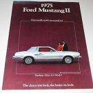 """Ford Mustang II """"2"""" Sales Brochure Hardtop~Ghia~Mach1"""