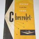 Guide to Your New 1959 Chevrolet Owners Manual