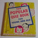 The Popular Quiz Book for Young & Old 1937