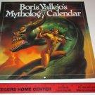 "BORIS VALLEJO""S Mythology Calendar 1992 Fantasy Art Prints"