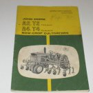 John Deere A2 T2 Two Row A4 T4 Four Row Cultivator operators manual