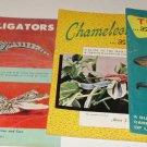 (5) Books by Mervin Roberts Turtels~Alligators~Chameleons~Newts~Terrarium