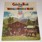 Vintage  COLORING BOOK OF THE UNION PACIFIC WEST RAILROAD SOFTCOVER