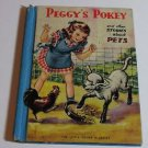 1940 PEGGYS POKEY CHILDRENS PET STORY BOOK COLOR ILLUSTRATED