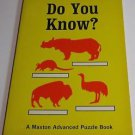 "Vintage 1963 Maxton Advanced Puzzle Books ""Do You Know"""